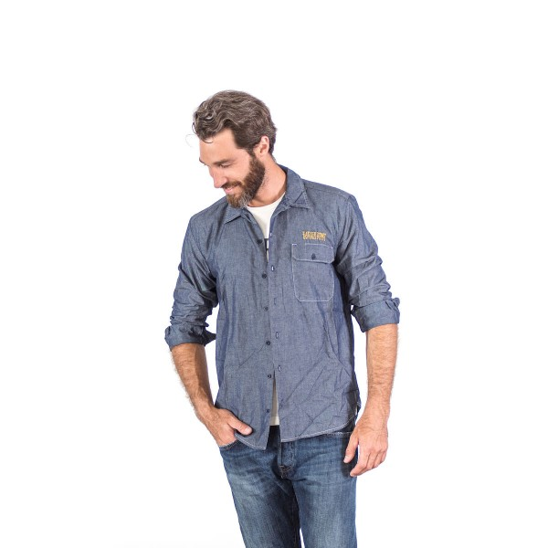 Faster Sons Shirt Jeans Style Langarm XL