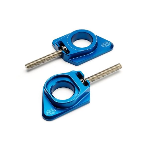 Billet-Kettenspanner blau YZF-R1