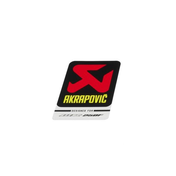 Akrapovič-Aufkleber für Aluminiumauspuff WR250F