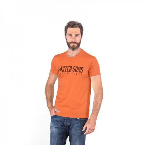Faster Sons Logo T-Shirt Rust