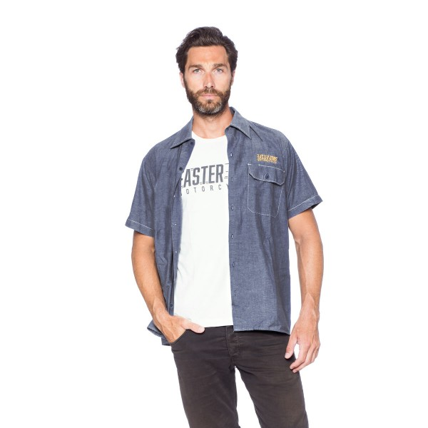 Faster Sons Shirt Jeans Style Kurzarm L
