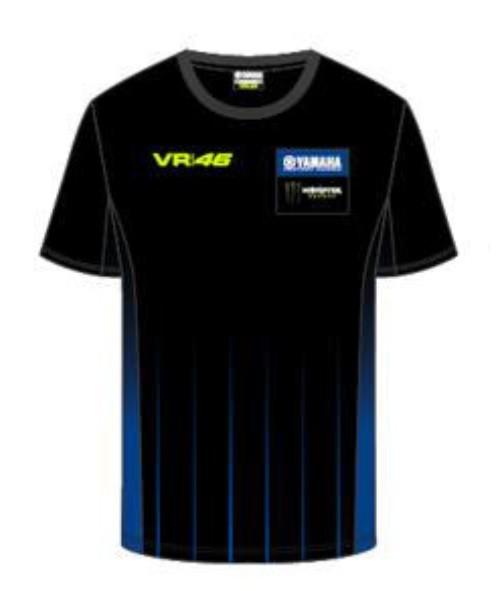 VR46 T-Shirt BlackLine Herren
